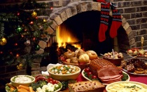 food christmas fireplace
