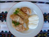 Romanian traditional dish - cabbage rolls (sarmale)